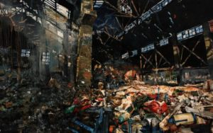 The Lost Glory Jingdezhen series No.31 180x295cm oil on canvas 2010