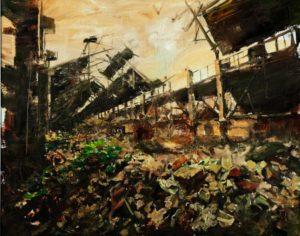 The Lost Glory Jingdezhen series No.32 80x100cm oil on canvas 2011