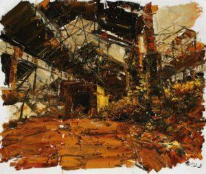 The Lost Glory Jingdezhen series No.33 150x180cm oil on canvas 2011