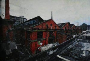 The Lost Glory Jingdezhen series No.5 490X290CM oil on canvas 2008