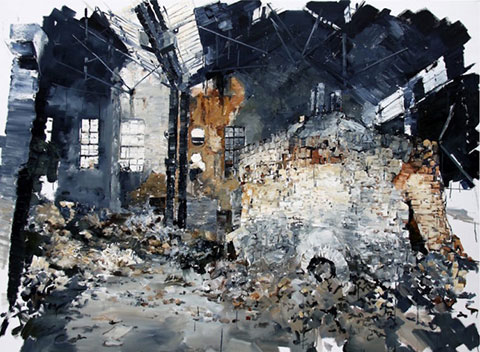 The-Lost-Glory-Jingdezhen-series-No.44-220x170cm-oil-on-canvas-2011-768x590